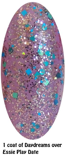 Daydreams over Essie Play Date- Nails