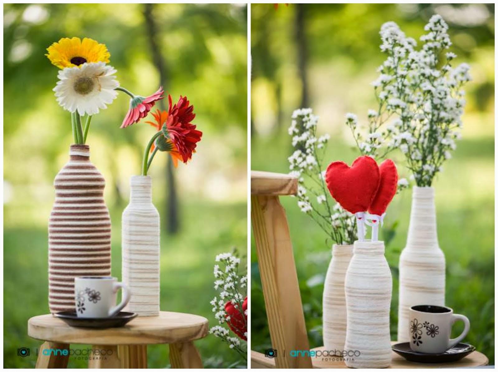 e-session - ensaio de noivos - ensaio divertido - ensaio - piquenique - faça você mesma - diy - decoração ensaio - garrafinhas - garrafinhas com lã - coração