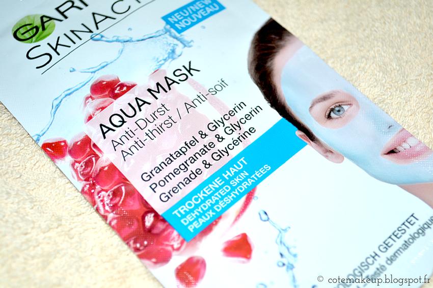monodose SkinActive Garnier Aqua Mask cotemakeup.blogspot.fr