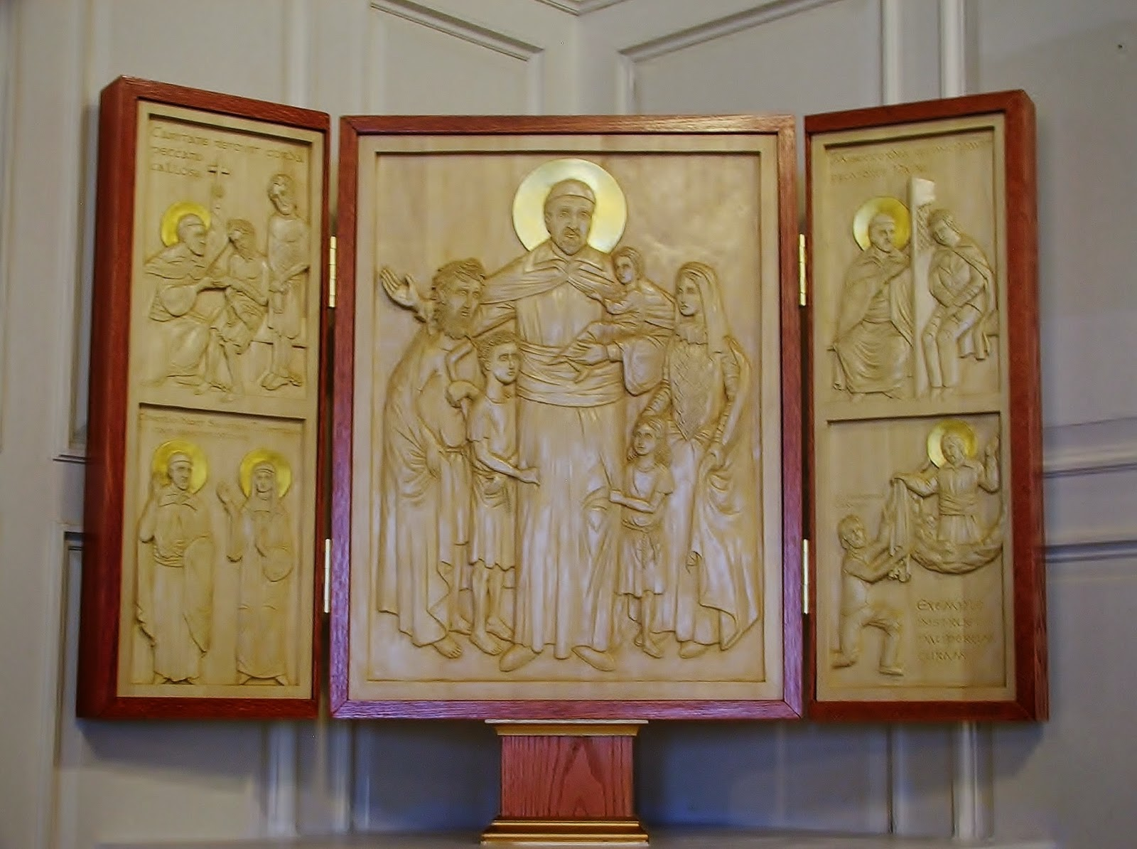 Recently Commissioned Relief Carving of St Vincent de Paul