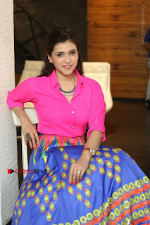 Actress Mannar Chopra in Pink Top and Blue Skirt at Rogue movie Interview  0187.JPG