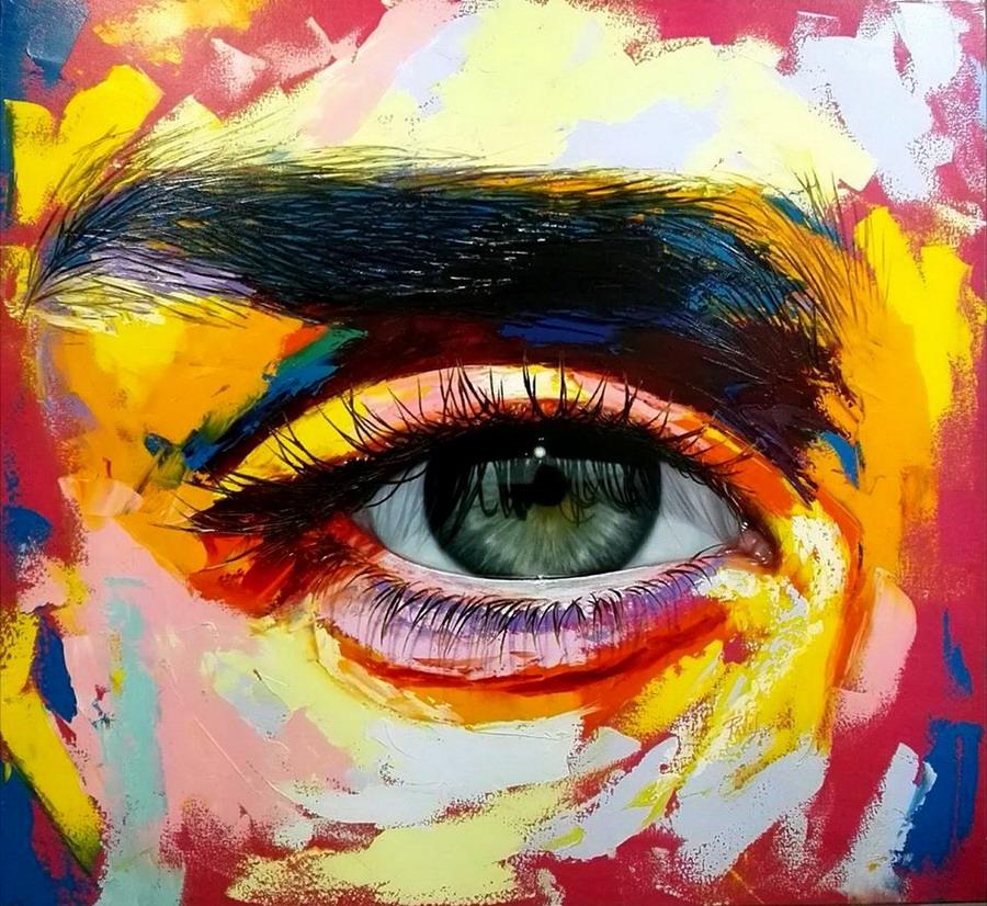 Im genes arte pinturas pinturas coloridas modernos ojos - Pinturas de pared modernas ...