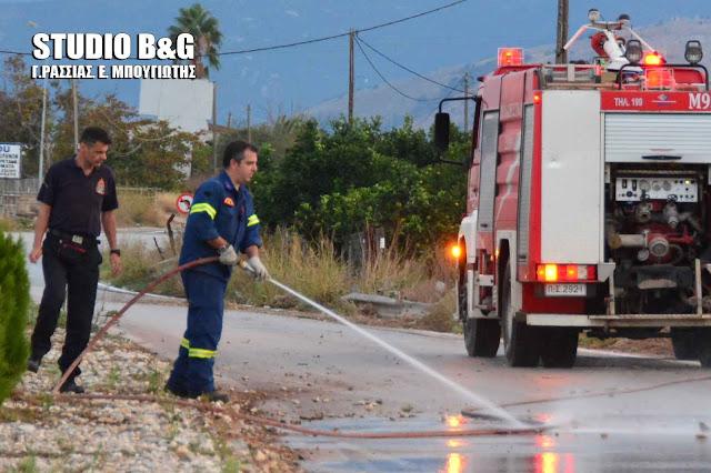 Πρόβλημα στο Άργος από την βροχή στην διασταύρωση του Νότιου Περιφερειακού με την οδό Τριπόλεως