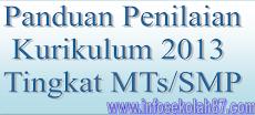 Panduan Penilaian Kurikulum 2013 Tingkat MTs/SMP