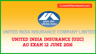 UIIC AO Exam 12 June 2016 Questions