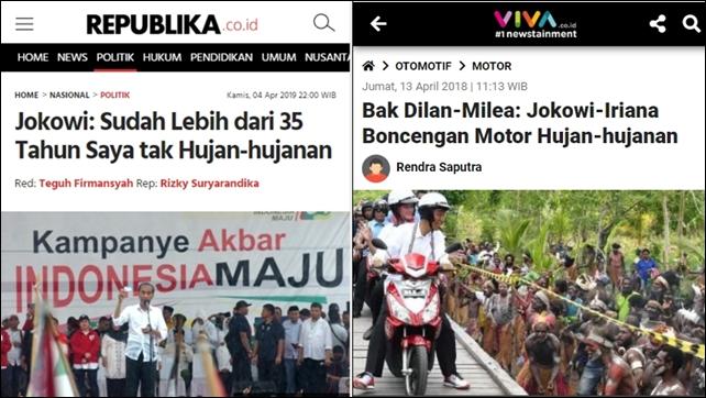 Jokowi Klaim 35 Tahun tak Hujan-hujanan, Warganet Kesal Sodorkan Jejak Digital