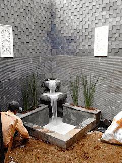 jasa pembuatan kolam koi   air mancur minimalis   water