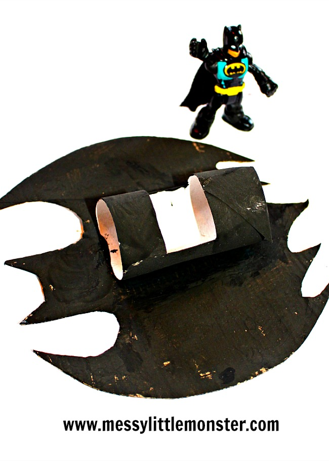 Batplane or Batmobile craft ideas for kids. Superhero activities