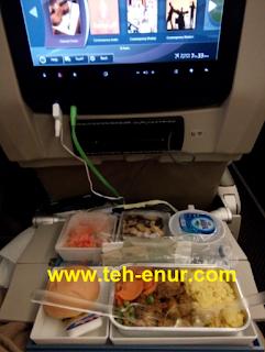 Makanan, Minuman di pesawat
