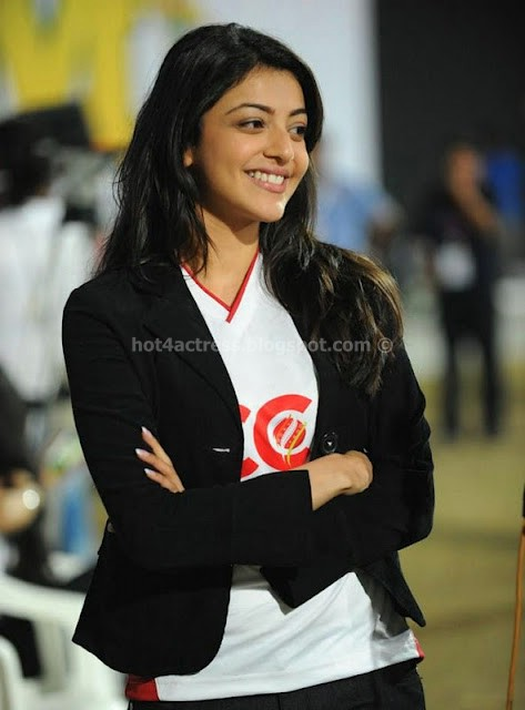 Kajal Agarwal At CCL Matches