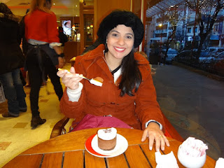 Sobremesa de chocolate na chocolateria Mamuschka em Bariloche