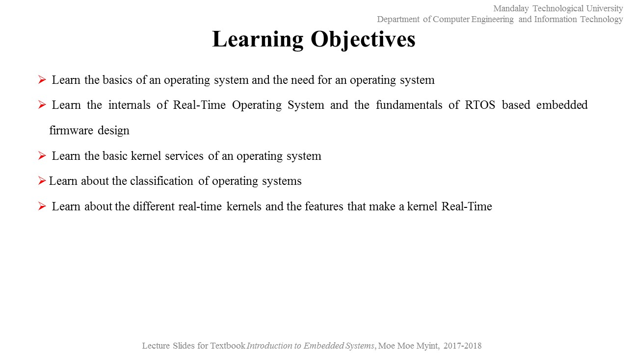 Embedded Systems An Introduction