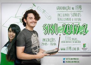 IFPB oferta 1.110 vagas do ensino superior no Sisu
