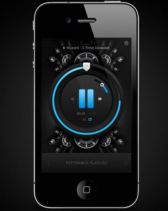 awesome Music Player App for iphone