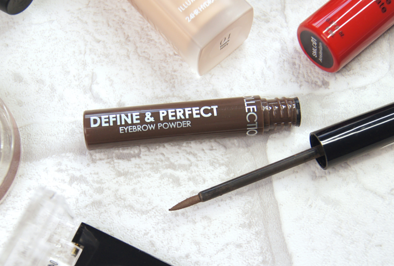 collection define & protect eyebrow powder review swatch