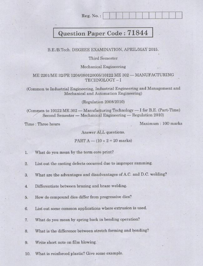 Automation In Manufacturing Previous Question Papers Jntuk
