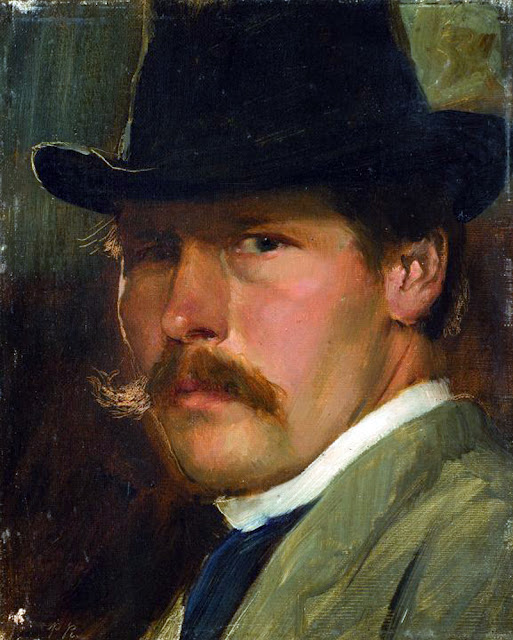 Paul Raud, Self Portrait, Portraits of Painters, Fine arts, Portraits of painters blog, Paintings of Paul Raud, Painter Paul Raud