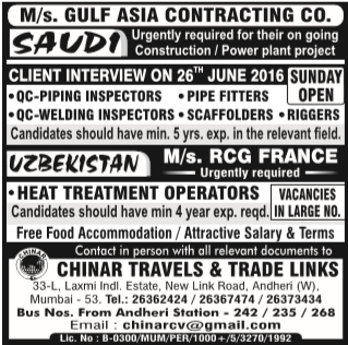 qa qc inspector jobs in saudi arabia