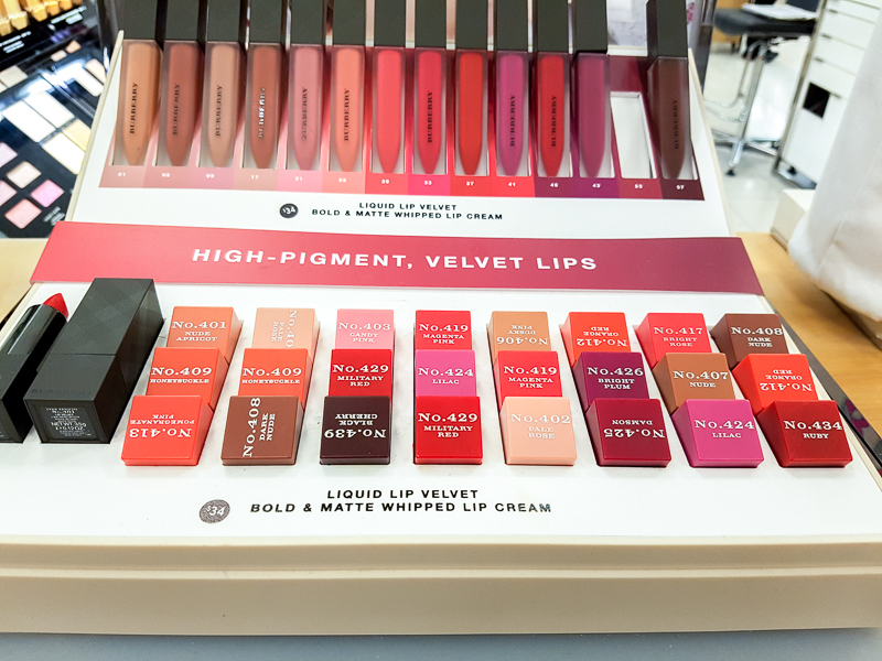 Burberry Beauty Lip Velvet Matte Lipsticks - Swatches