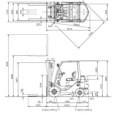 xe nang toyota 8FD30