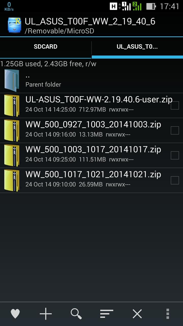Upgrade Manual Asus Zenfone 5