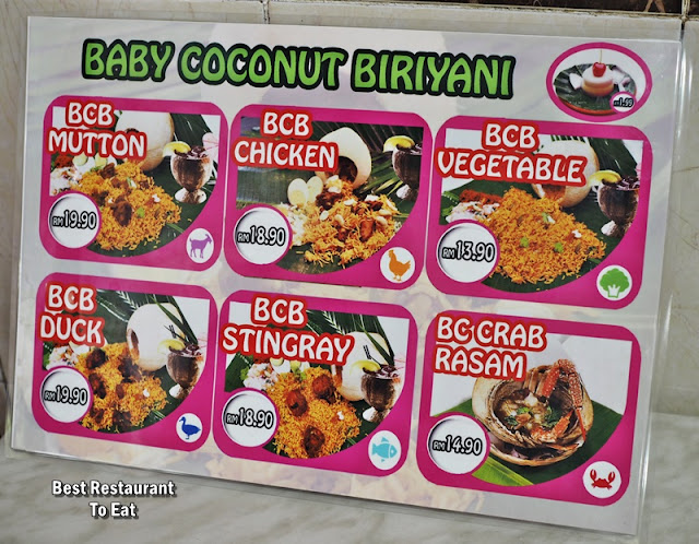 Mahesha TTDI Baby Coconut Briyani Menu Prices