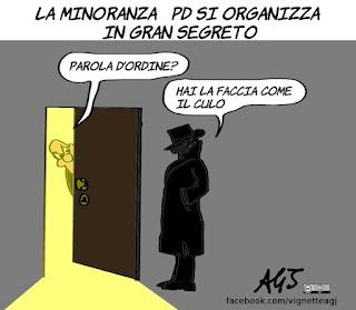 Giachetti, Speranza, assemblea PD, hai la faccia come il culo, minoranza PD, vignetta satira
