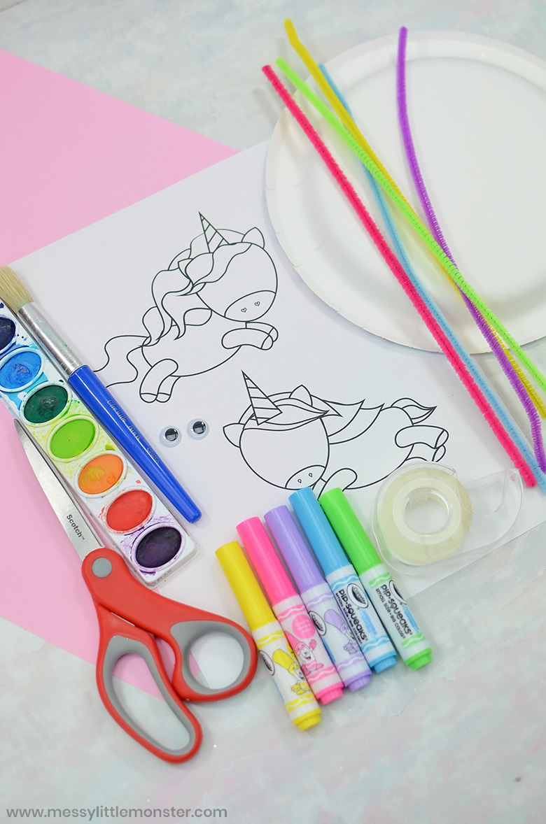 printable unicorn template