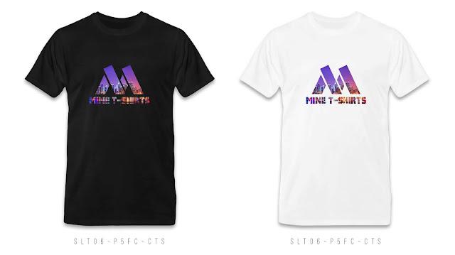 SLT06-P5FC-CTS Logo & Text T Shirt Design, Custom T Shirt Printing