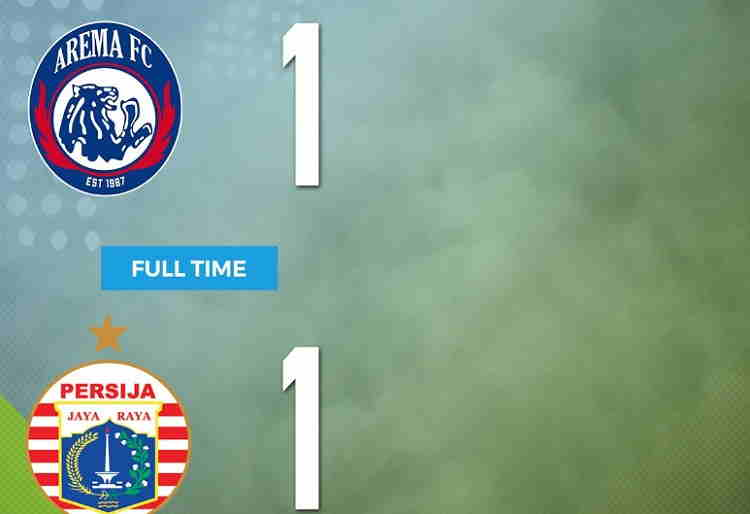 Hasil Arema FC vs Persija Jakarta Skor Akhir 1-1 | Liga 1 Pekan 19