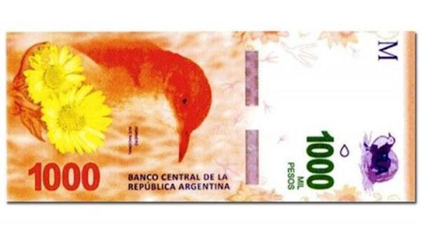 Así será el billete de $ 1.000, que empezará a circular en diciembre