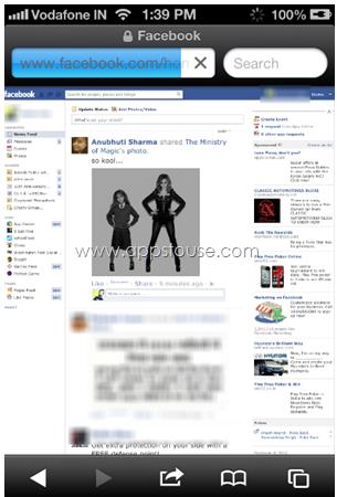 Desktop Version of Facebook Login