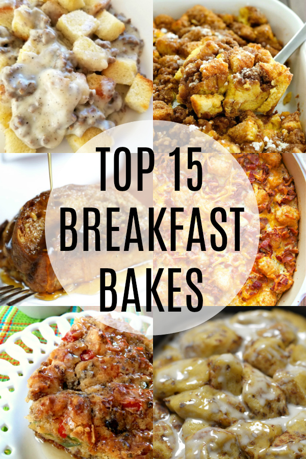 The BEST recipes for brunch, breakfast buffets and overnight guests with ideas for both sweet breakfast bakes and savory casseroles!