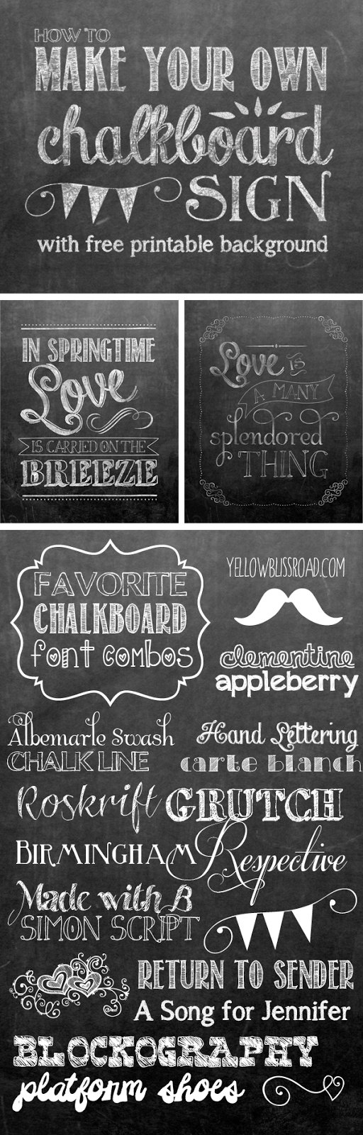 photo about Free Chalkboard Printable identify How in the direction of Deliver Your Individual Printable Chalkboard Signal - Yellow