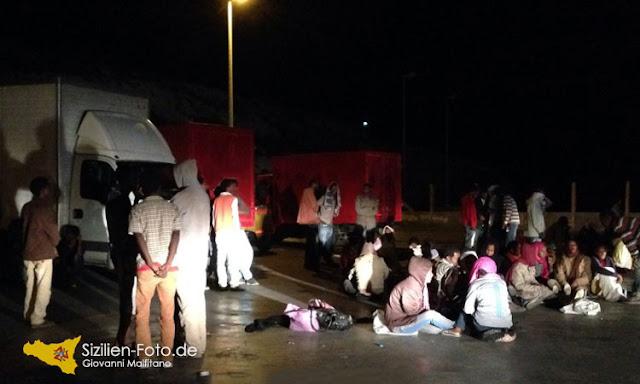 Flüchtlinge auf Sizilien