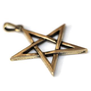 прямая белая пентаграмма пятиконечная звезда без круга для защиты купить