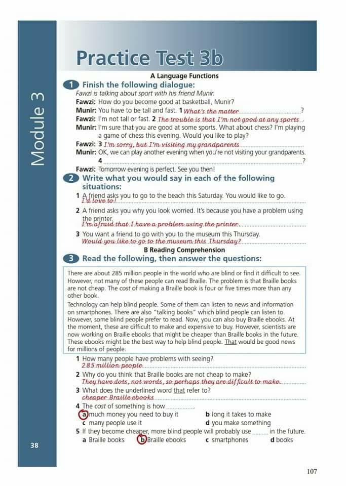 حل أسئلة الورك بوك للثالث الاعدادي المنهج الجديد  13