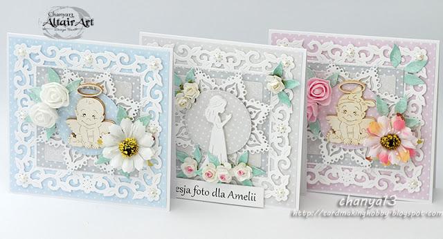 324. Pastelowe trojaczki – kartki dla dzieci