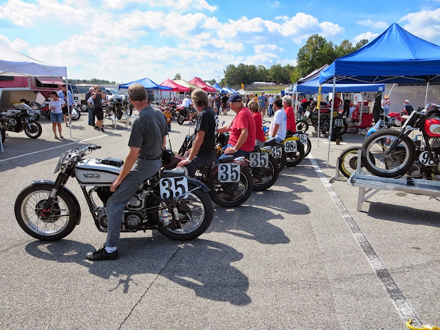 Barber Vintage Festival motorcycle paddocks