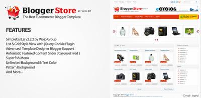 Blogger Store v2.0 Blogger Template