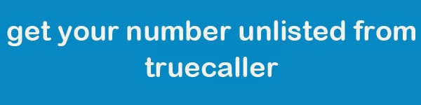 remove number from trucaller