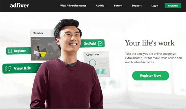 Adfiver - Gana dinero con una nueva PTC