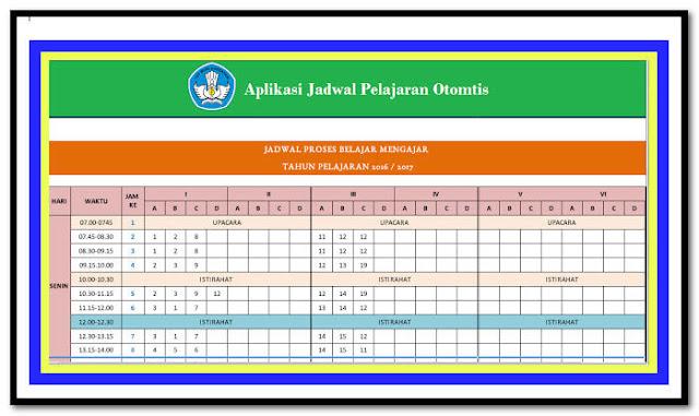 Aplikasi Pembuat Jadwal Pelajaran SD SMP SMA Otomatis