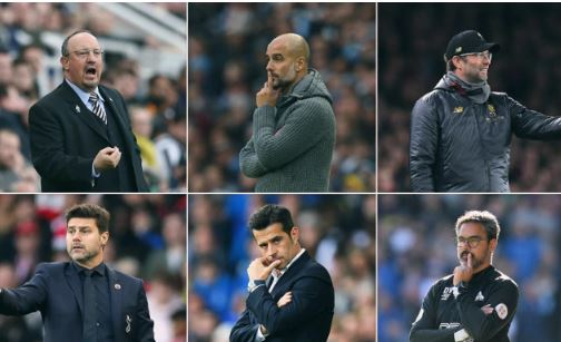EPL Managers of the Month Nominees