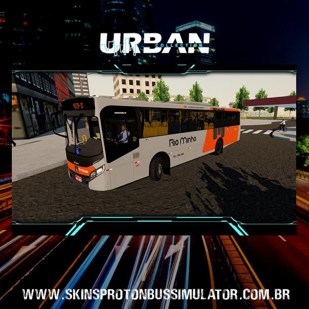 Skin Proton Bus Simulator - Caio Apache VIP IV MB OF-1721L BT5 Rio Minho