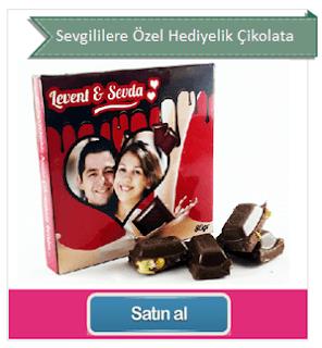 kişiye özel hazırlanan çikolata