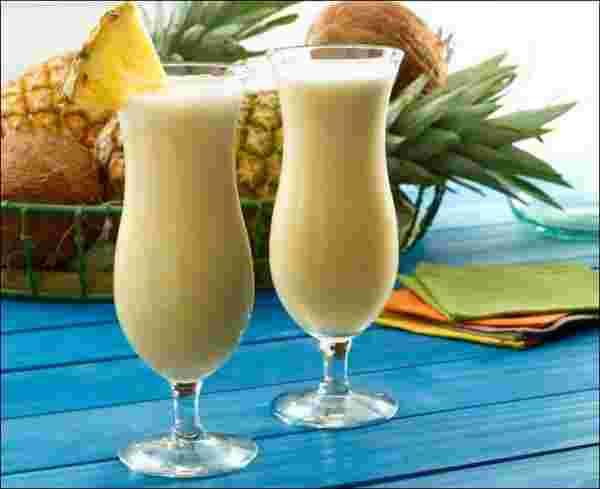 pineapple cream drink recipe method
