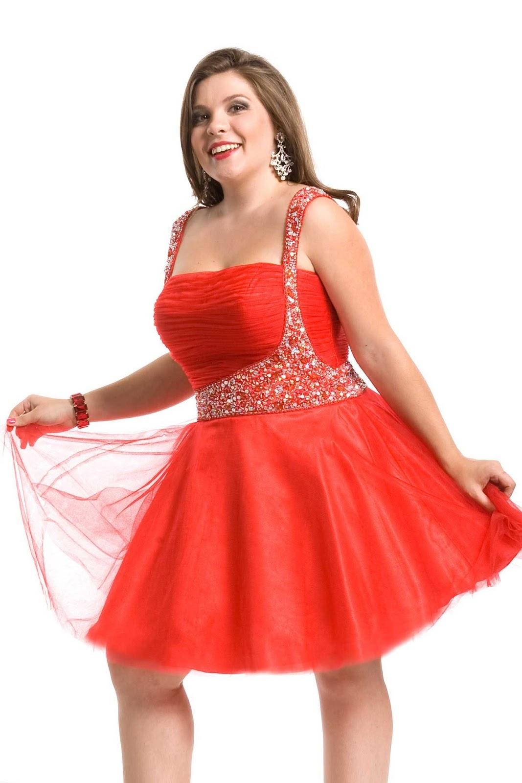 MEDIUM LENGTH HAIRCUT: Red homecoming dresses