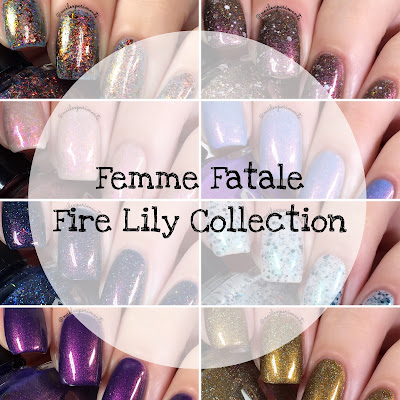 femme fatale fire lily collection swatches