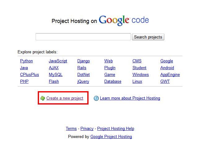google code hosting